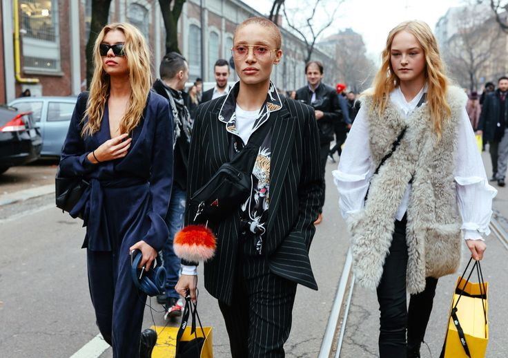 Stella Maxwell, Adwoa Aboah, and Jean Campbell