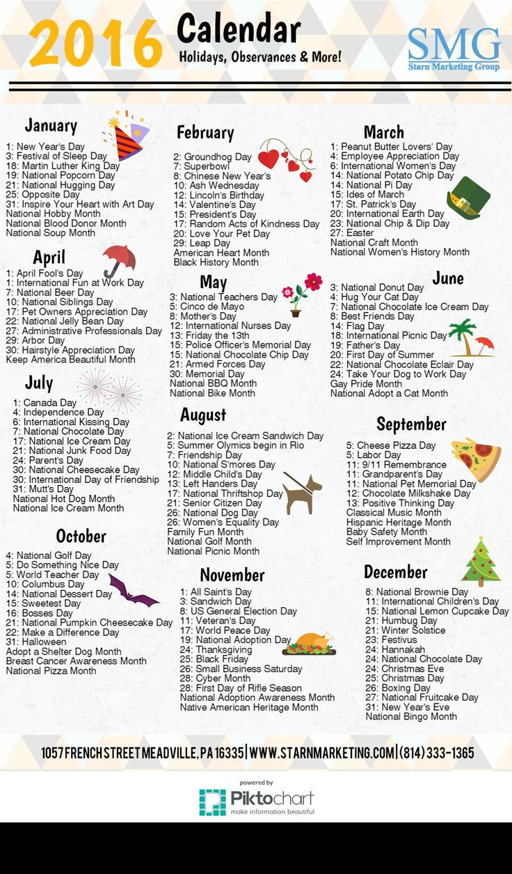 2016 Holiday Calendar (2)
