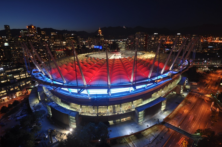 From last fall. Renovated B.C. Place Stadium. Lighting test. Check.. check.. on Twitpic