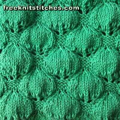 Berries knitting stitches