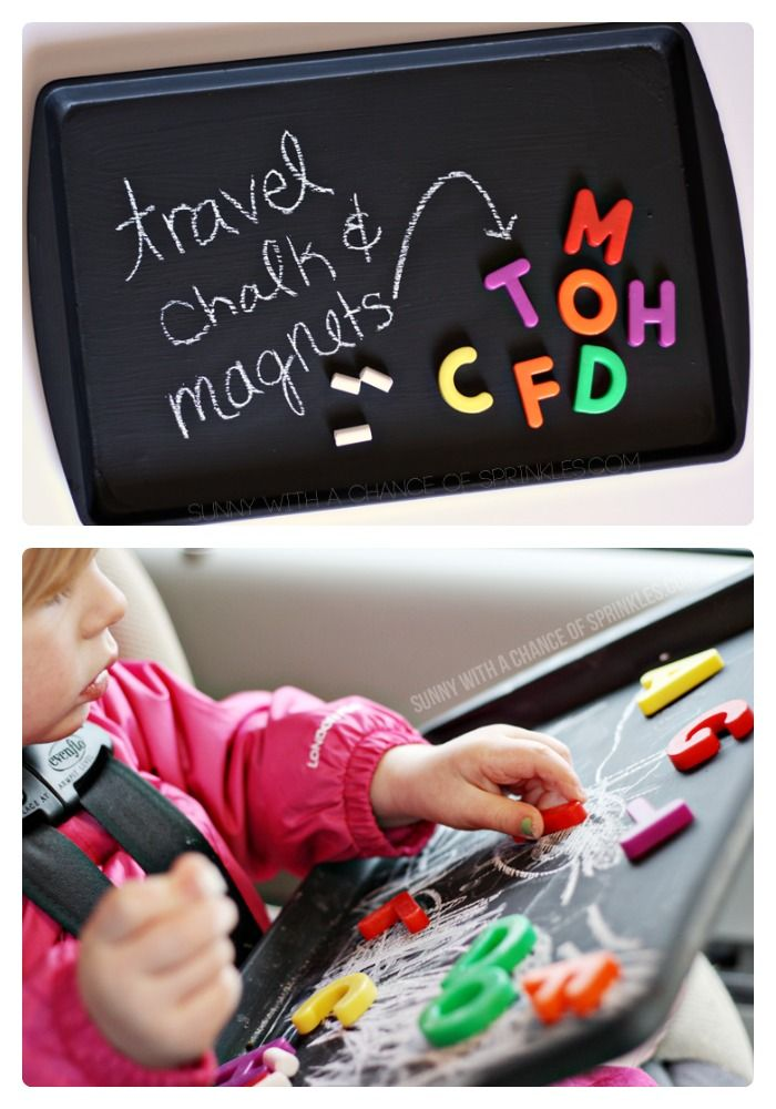 DIY Kids Travel Activity Board from Cloudy with a Chance of Sprinkles at B-InspiredMama.com #DIY #kids #kbn #binspiredmama