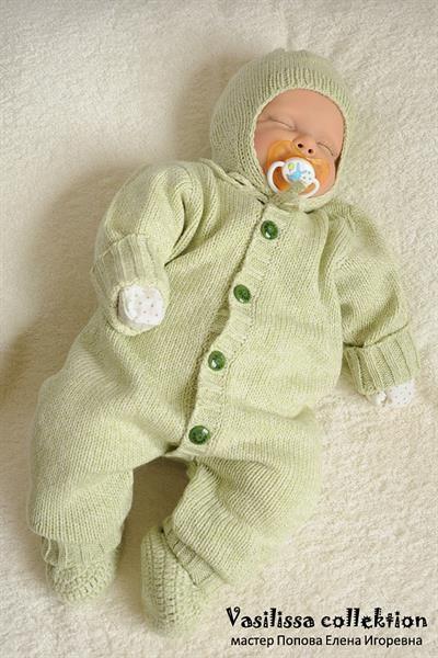 Шерстяной костюм для новорожденных