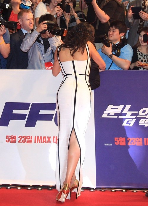 Michelle Rodriguez at the 'Fast & Furious 6' Premiere in Seoul, South Korea on May 13, 2013