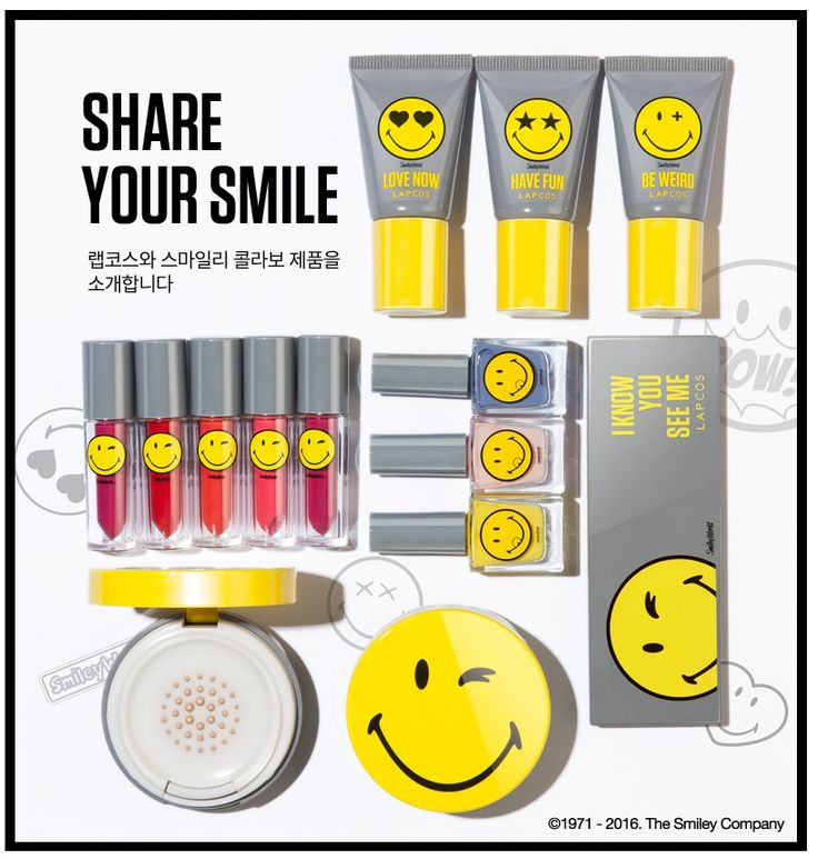 스마일리 콜라보레이션, 코스메틱 콜라보, 랩코스, LAPCOS, SMILEY, collaboration, COSMETIC, KBEAUTY photo from lap korea