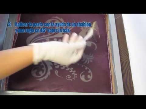 VIDEO DEL PROCESO DEVORÉ – Experimentacion textil artesanal