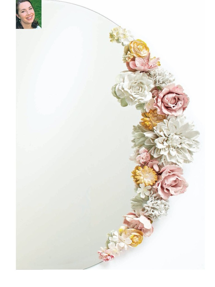 Plaster flowers, very romantic and looks easy to do