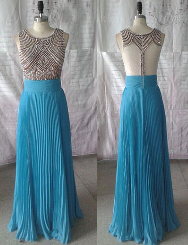Buy here: https://www.occasiongirl.com/prom-dresses/modern-a-line-floor-length-blue-chiffon-prom-dress-with-beading.html?OG201601192