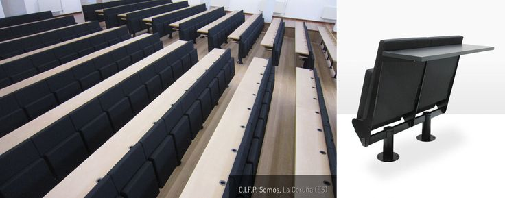 Auditorium chair / contemporary / metal / fabric - TIP COLLEGE - ASCÉNDER
