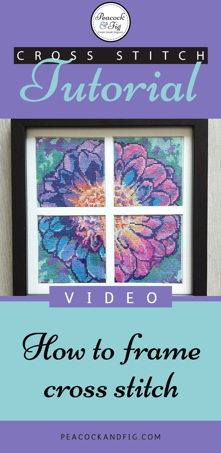 how to frame cross stitch and embroidery