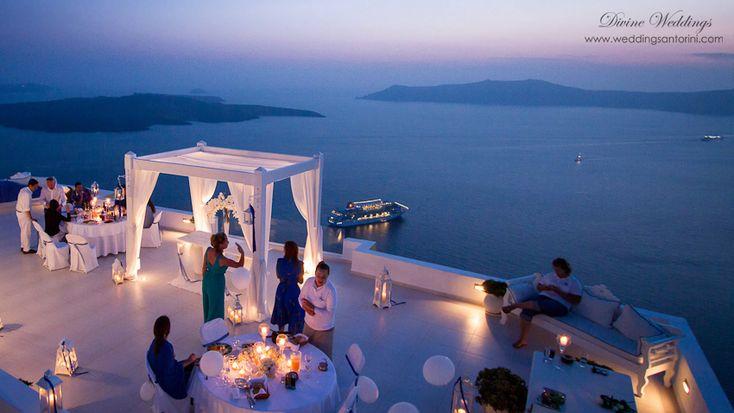 Private Dinner reception by Divine Weddings in Santorini,Greece