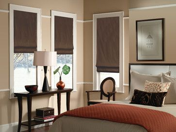 roman blinds with room darkening, top down/bottom up options