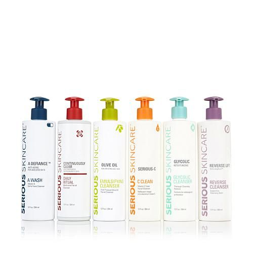 Serious Skincare by Jennifer Flavin-Stallone Serious Skincare Glycolic Cleanser PLUS PLUSH 80K Brush & Diffuse Skin Perfector