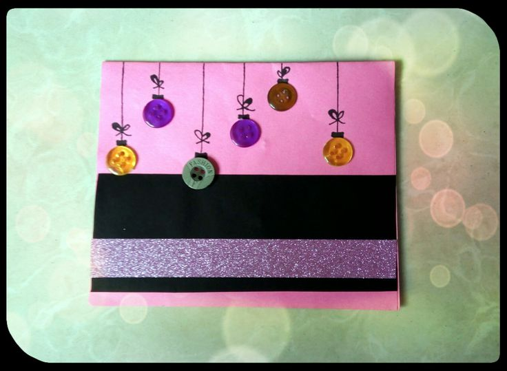 Handmade card #12 : AIl you require to make this card is few buttons.. Isn't it easy??