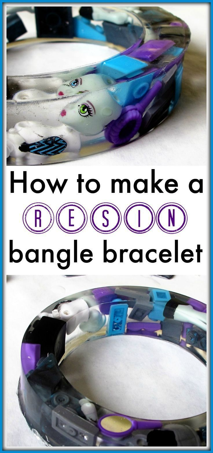 Resin casting a bangle bracelet