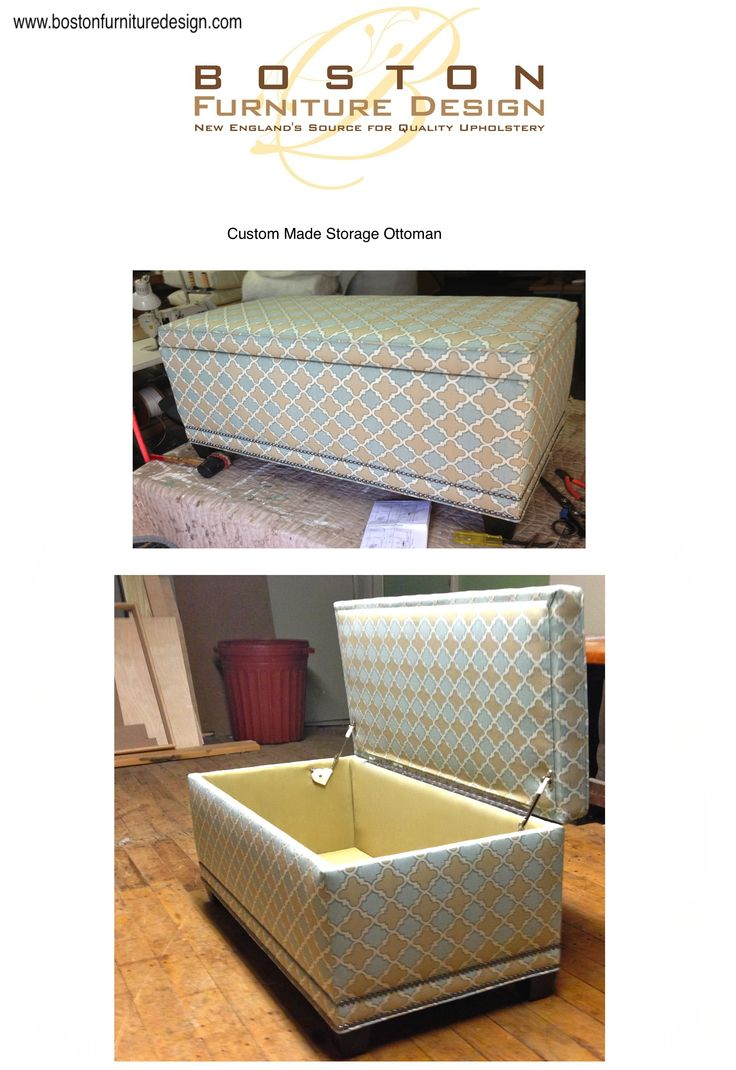 Custom Made Storage Ottoman by Boston Furniture Design For more information  please visit www  Best. Boston Furniture Design   creatopliste com