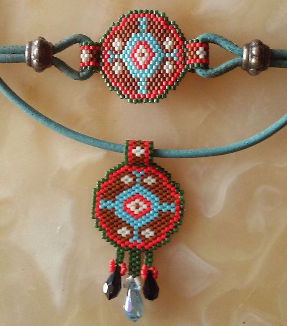 Peyote bracelet-necklaces beaded bracelet-necklaces by ANASIS