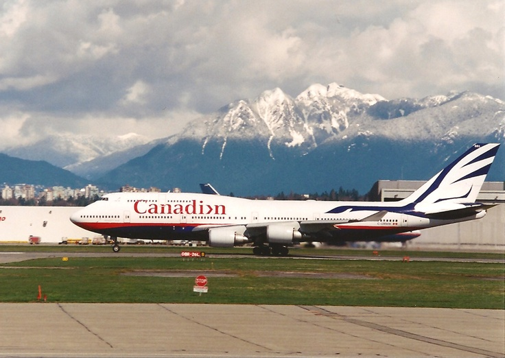 "Photo by ""RNO-Alien"". I loved this livery. During this time, Canadian and Air Canada were chasing each other across the country in half-empty planes. Sadly, Canadian folded... along with these beautiful birds.    http://www.identityworks.com/reviews/1999/canadian_airlines.htm"