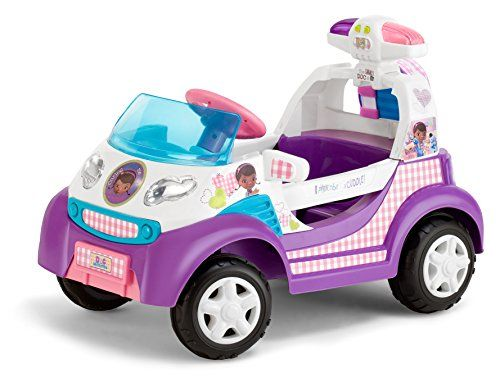 Have no fear the doctor is here! Now your child can go to go to the rescue to save toy's everywhere with the Doc McStuffins ride on toy ambulance. With flashing lights, siren and opening doors this ride on toy will provide hours of pretend and play fun. 6 volt Wall charger included. Maximum speed is 2 MPH.