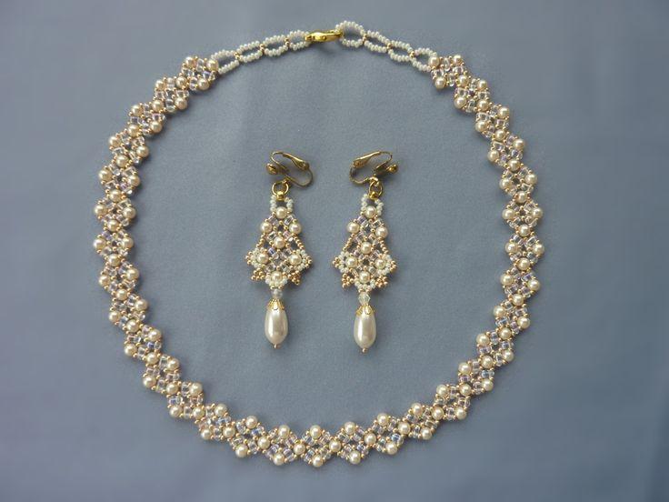 FREE beading pattern: Twin Diamonds