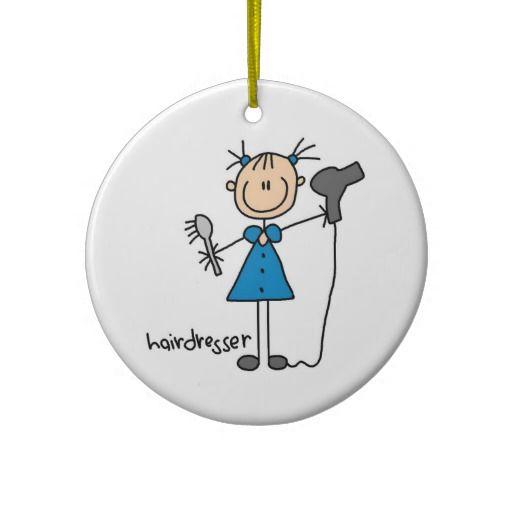 stick christmas decorations | Hairdresser Stick Figure Christmas Tree Ornaments | Zazzle.co.uk