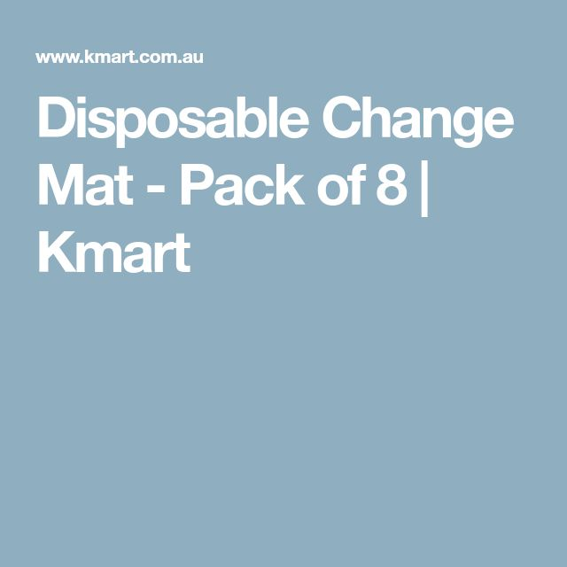 Disposable Change Mat - Pack of 8 | Kmart