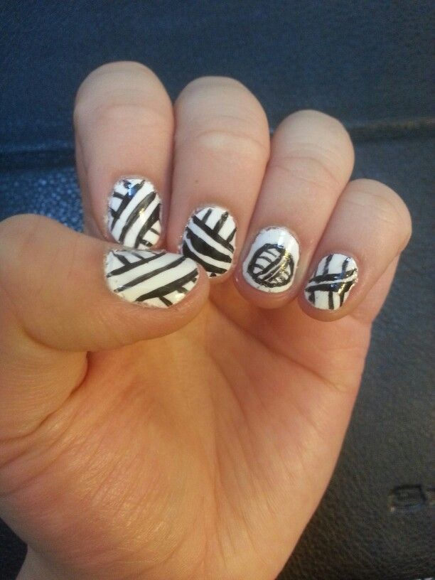 Volleyball nails for all you sporty ones out there :)