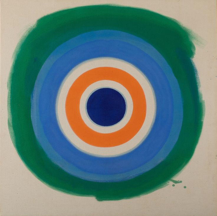 Kenneth Noland, Blue Painted Blue, 1959