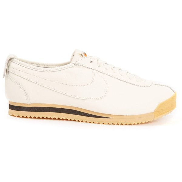 Nike Cortez 72 Trainers ($125) ❤ liked on Polyvore featuring shoes, sneakers, vintage shoes, nike shoes, leather upper shoes, grip trainer and sports trainer