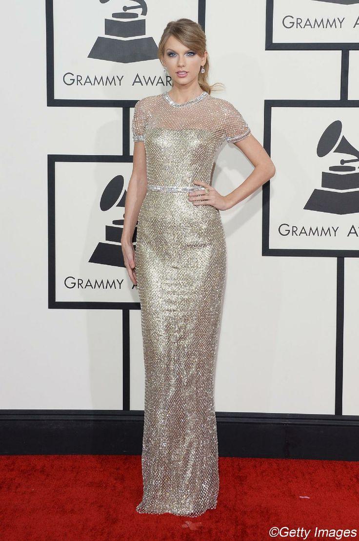 Grammy Awards 2014: les robes de stars (Taylor Swift en Gucci) Photo : Getty Images   Elle Québec