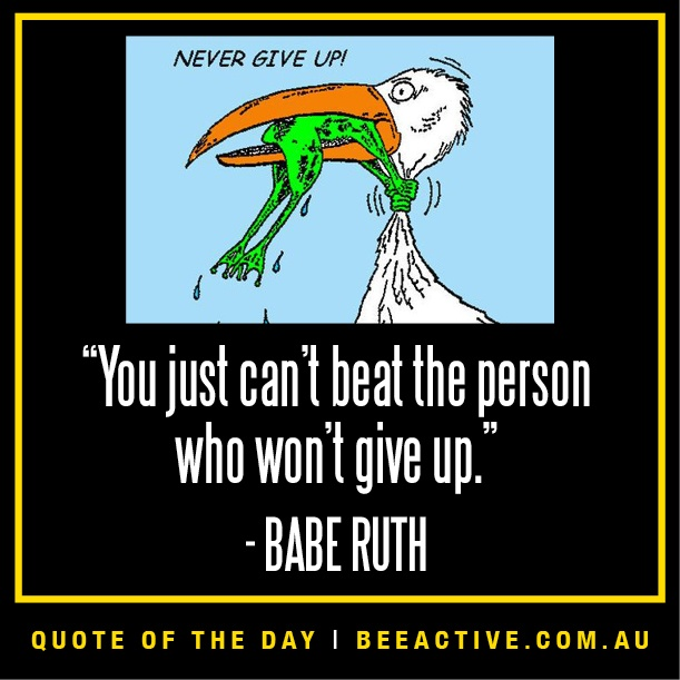 Persistence Motivational Quotes: Motivational Quote On Persistence, Babe Ruth