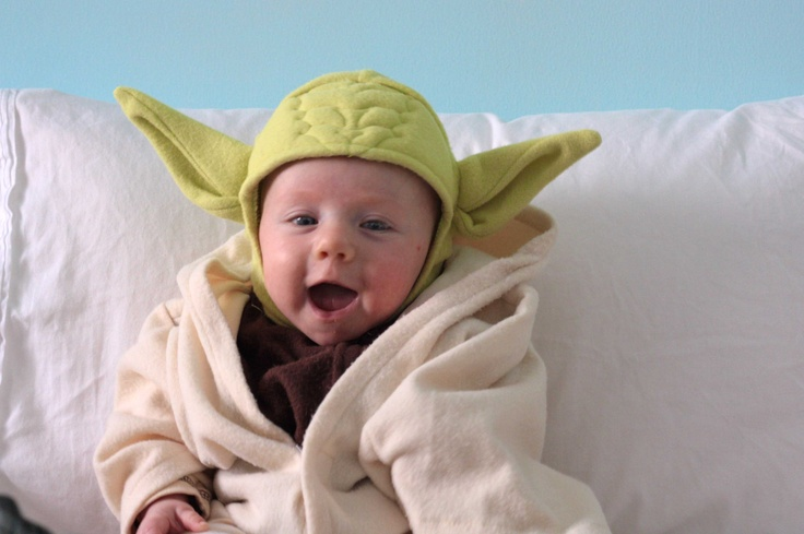Dear Three Month Old Baby Yoda Costume