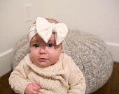 Flower girl bow-band / bow band/ big bow headband/ baby bow headband/ toddler bow headband/ headwrap/ turban https://www.etsy.com/shop/whimswear