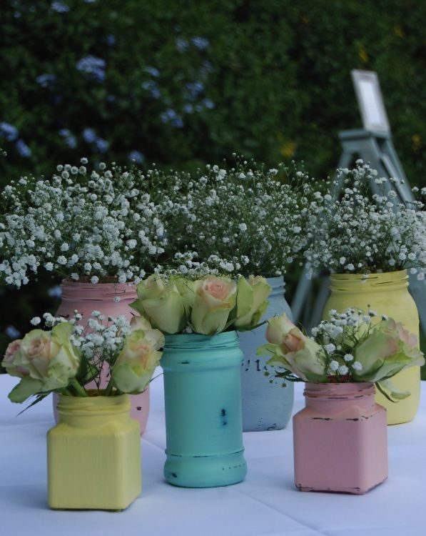 Painted Jars in Different Shapes and Sizes