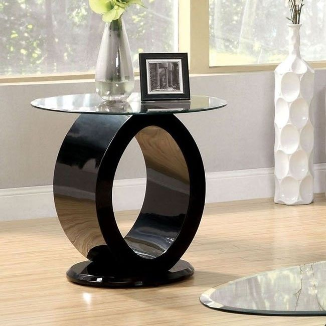 Lodia lll by Furniture of America End Table CM4825BK-E Black Finish
