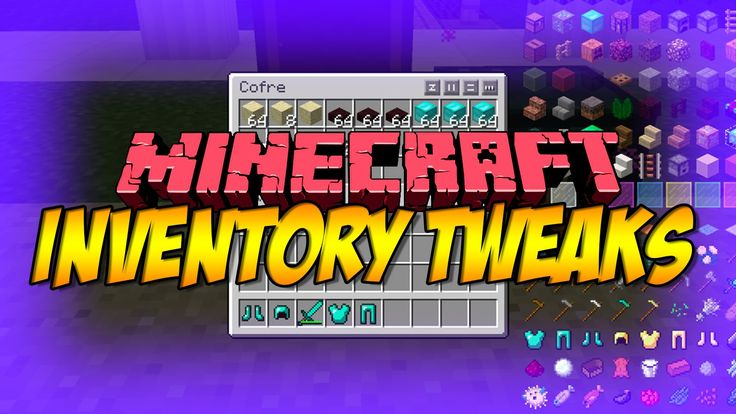 Manage your inventory with ease with this wonderful mod created by username Kobata - Inventory Tweaks 1.13 & 1.12.2! Sort your inventory with one click