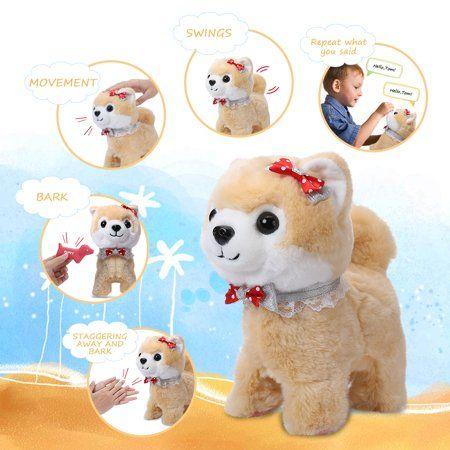 Shinehalo Walking Barking Puppy Dog Toy Pet Electric Plush Dog