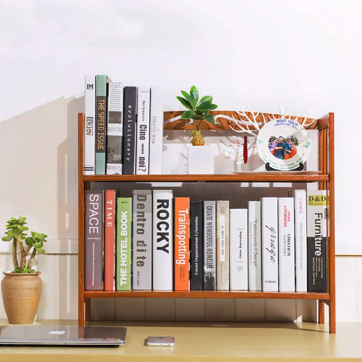 Bookcase Bookshelf Quality Directly From China Bamboo Suppliers Student Desk Wood Desktop