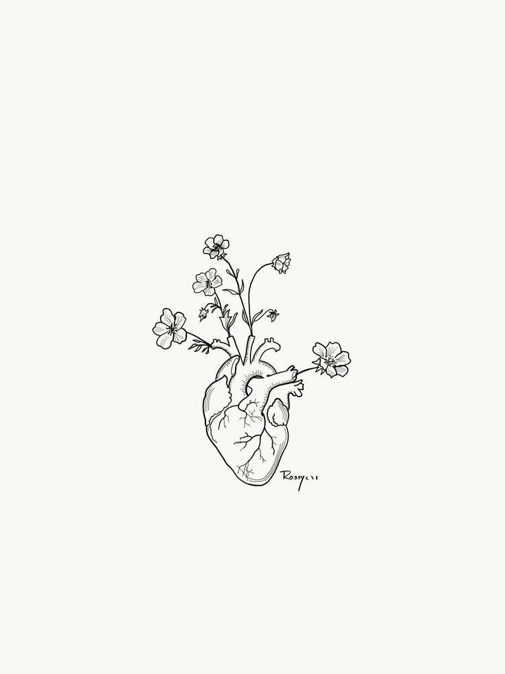 Blumiges Herz #blumiges – #Blumiges #Herz #zeichne…