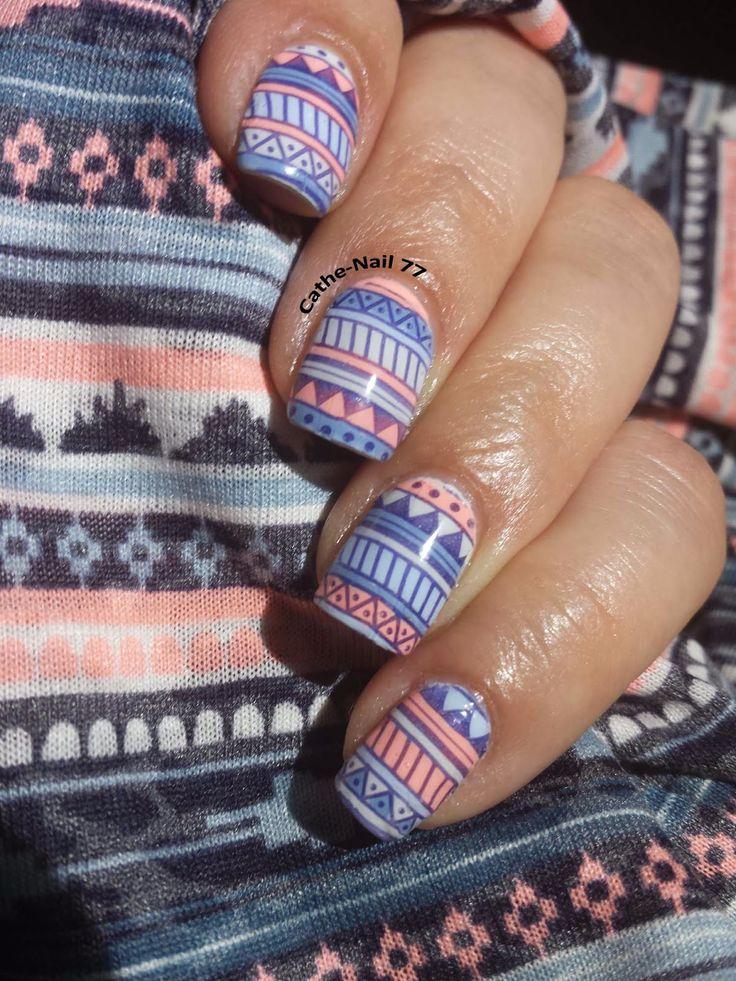 Le blog de Cathe-Nail77: Patch stamping colorié - 2ème essai