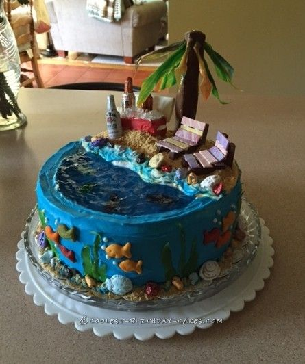 17 Best ideas about Beach Birthday Cakes on Pinterest ...