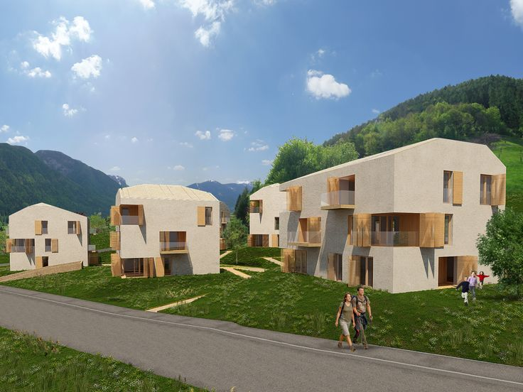 BFA | BVS multi-family buildings #architecture #3dModelling #contemporary #modern #mountains