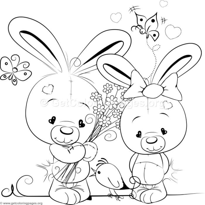 Love Bunnies Unicorn Coloring Pages Cute Coloring Pages Coloring Pages
