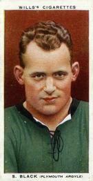1935-36 W.D. & H.O. Wills Association Footballers #4 Sammy Black  Front