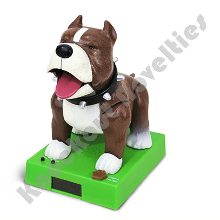 Sparky the Rappin' Bulldog Talking Alarm Clock barks and raps to you to get out of bed. Sparky also bounces up and down and he calls out to you. 2 AA batteries required (included).