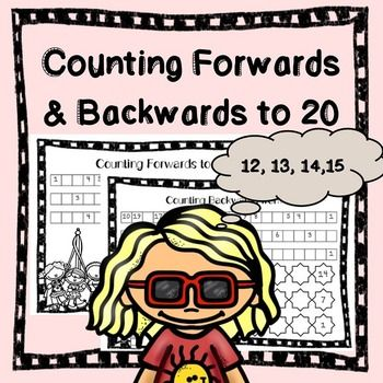 Counting Forwards and Backwards to 20 (Freebie) These 8 worksheets are ...