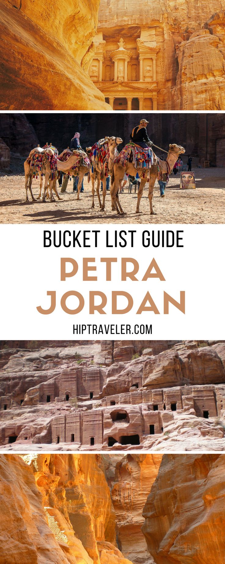 A bucket list worthy guide to visiting Petra, Jordan. Where to stay, what to eat, and how to experience the best of Petra, Al Siq and the Treasury. Travel in the Middle East. | Blog by HipTraveler: Bookable Travel Stories from the World's Top Travelers