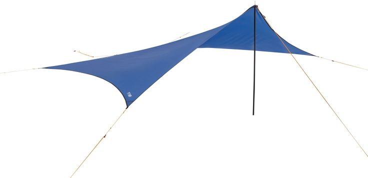 Extend the cover you get from your tent, or make an instant canopy to shelter beneath.