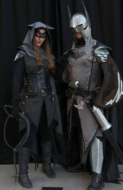 Renaissance Faire Batman and Catwoman Costumes -- This would be awesome for me and Collin at ren faire haha