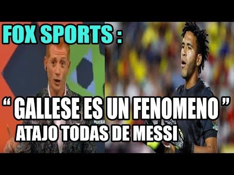 """fox sports : """" GALLESE es un FENOMENO , ATAJO todas las de MESSI """" - YouTube"""
