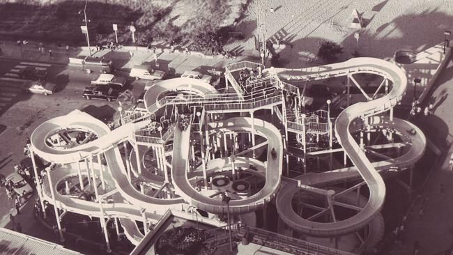 Grundy's waterslides circa 1987 Picture: File